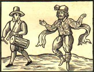 &quot;Kempe's Jig&quot; Renaissance Era Woodcut