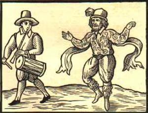 """Kempe's Jig"" Renaissance Era Woodcut"